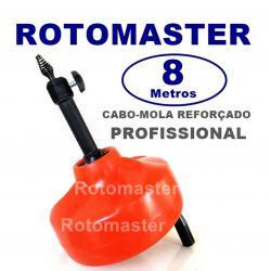 Máquina Desentupidora Rotomaster 8 Metros  Profissional Manual