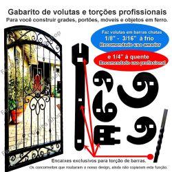 GABARITO DUPLO 6 PCS VOLUTAS  ART NOVEAU